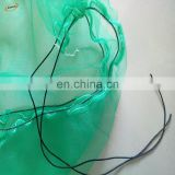 80x100cm green mono filament HDPE date tree date palm mesh net bag for date cover with black drawstrings