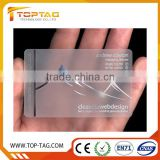 Blank transparent business cards / transparent plastic business cards