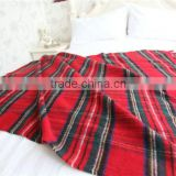 NO.1 China blanket factory China supplier home use travel set luxury tartan wool throw blanket                                                                         Quality Choice