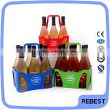 Unbreakable beer basket plastic for wine bottles