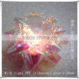 3 inches diameter Flashing LED ribbon bows glowing gift bow with self-adhesive sticker at the back for Christmas