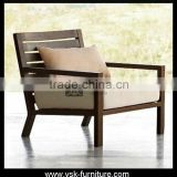AC-071 Outdor Furniture Eave Leisure Teak Wood Sofa Chair