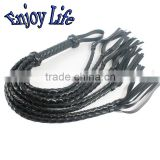 CW012 New Arrival Black PU Leather bdsm bondage Whip Top Fashion Sexy Whips Sex Products, Adult sex Toys
