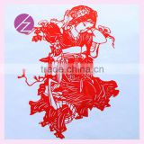 Chinese window decoration morden handmade paper cutting with Chinese classical beauty JZ-28