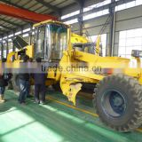 hydraulic motor grader with Cummins engine,self-propelled,cabin,A/C,middle blade,6wheels
