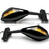 Universal High quality Black LED Motorcycle Turn Signals Integrated Mirrors