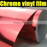 red chrome vinyl 1.52*30m chrome car wrap vinyl film