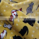 China wholesale cartoon printed flannel baby blankets for bedding