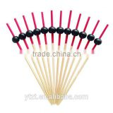 Factory wholesale bamboo cocktail picks with ball decoration                                                                         Quality Choice