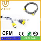 Wholesale 1.5m 3m 5m male to female usb cable for camera computer phone accesories