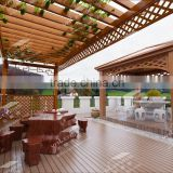 Gardern furniture pergolas outdoor wood wpc pergola/Aluminum alloy material
