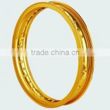 Bright yellow motorcycle wheel rim/H 1.85 Motorcycle Classic rim