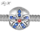 Fashion style rhinestone bead fit DIY charm bead for women FHX039
