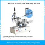 Semi-Automatic flat labeling machine adhesive sticker self-adhesive label electronic supervision code bar code Qr code labeler