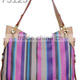 Multi stripe hobo bags fashion design brand 2012