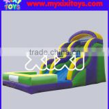 xixi toys commercial small Inflatable water slide with pool