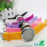 Fashion Mirror Face Led Watch Silicone Led Watch