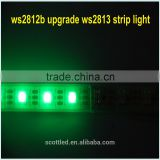 ws2812b upgrade5m/roll DC5V WS2813 30 LEDs/m White (Dual-signal wires) individually addressable RGB led pixel strip