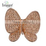2015 new products New model with high quality butterfly rhinestone brooch for wedding invitations