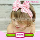 Top Quality Boutique Kids Baby Girls Printed Striped Bow Hairband Turban Knot Rabbit Headwraps Baby Boys Headbands With Hair                                                                         Quality Choice