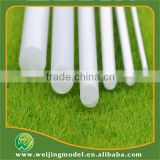 ABS plastic white model rod for 0.8mm miniature artificial model rod for 50cm