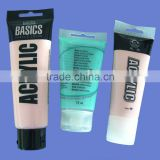 art material packaging tube