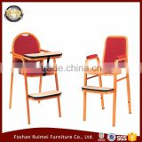 Foshan wholesale comfortable restaurant aluminum baby high dining chair for restaurant