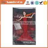 Eco-friendly fashion pretty girl 14 movable joints doll