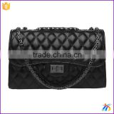 Leather Handbag Ladies Alibaba China Supplier crossbody bags black Iron chain shoulder bags