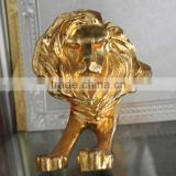 metal lion paperweight