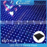 P62.5 led toughened glass dance floor /3pcs SDM5050 lamps a pixel and high brightness Semi-outdoor esign indoor floor display