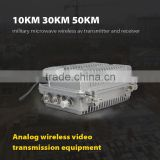 10KM 30KM 50KM military microwave wireless av transmitter and receiver