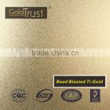 supply bead blasted ti-gold finish stainless steel sheets for elevator building decoration and wall panels