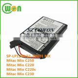 SP-LP1200 11-B0001 MX replacement battery for Mitac Mio C250 Mio C220 Mio C220s Mio C230