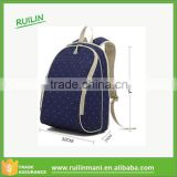 High quality Navy blue white dots Oxford cloth baby diaper bags made in China