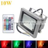 10W Waterproof Floodlight Landscape Lamp RGB LED Flood Light Outdoor LED Flood Lamp Wiht 24key Controller for holiday