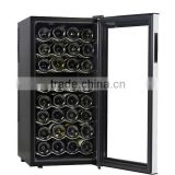 Compressor glass fridge wine chiller machine Glass Champagne Bottle Fridge, Led Light Mini Bar In Cabinet Wine Cooler