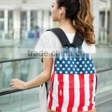 Unisex Canvas Backpack teenager School bag Olympic Games American US UK Flag Star-Spangled Banner Campus Backpack bags Schoolbag