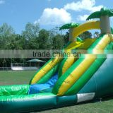 Outdoor high quantity inglatable palm tree water slide for sale, cheap inflatable gaint slide