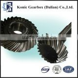 High working efficiency OEM precision helical bevel gear with strength assembly metallurgical industry