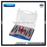 9Pcs Pliers and Screwdrivers Combined Transparent Case Tool Set