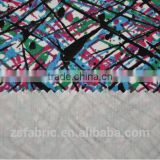 ZHENGSHENG Polyester/Rayon Blend Stretch printed Fabric with colourful pattern For fashion Garment shaoxing fabric
