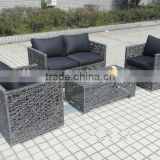 Garden furniture rattan rattan balcony sofa set synthetic rattan material Waterproof mattress covers for outdoor (HL-9106)