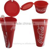 BPA Free Torch Plastic Popcorn Coke Bucket Cinema Supplies