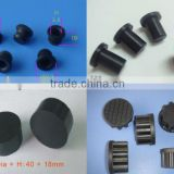 "1/4"" 1/2"" 1"" black rubber hole stopper silicone rubber waterproof dustproof hole plug"
