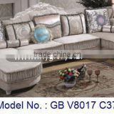 Classic U Shape Royal Wooden Fabric Sofa Set Luxury Living Room Indoor For Home Furniture Malaysia