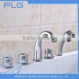 Wholesale High Quality Product FLG616 Lead Free Chrome Finished Cold&Hot Water 5 PCS Bathtub Shower 5 Holes Faucet set