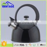 2.5L black color coating coffee kettle induction stainless steel tea kettle