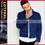 Wholesale Workwear New Mens Jeans Designer Long Sleeved Collared Classic Denim Jacket (LOTJ331)
