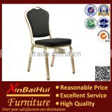 BH-L8313 Black fabric gold tube hotel dining chair used banquet chair